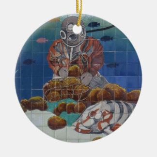 Tarpon Springs Sponge Diver Mural Ornament