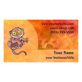 Tarsier Lemur Business Card - Fiery Orange
