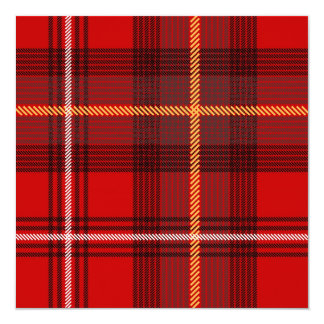 Tartan 13 Cm X 13 Cm Square Invitation Card