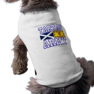Tartan Army Sleeveless Dog Shirt