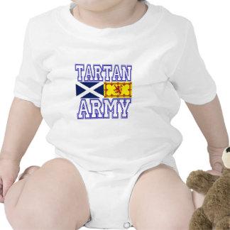 Tartan Army Rompers