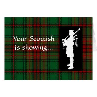Tartan Day Scottish Bagpiper Card