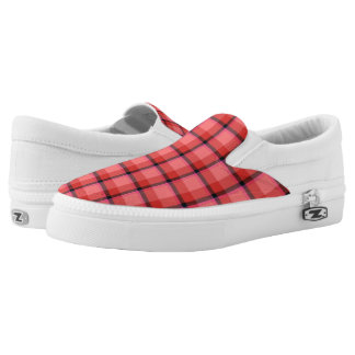 Tartan Design Slip On Shoes