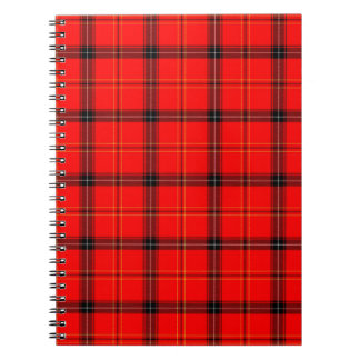 Tartan Design Spiral Notebook
