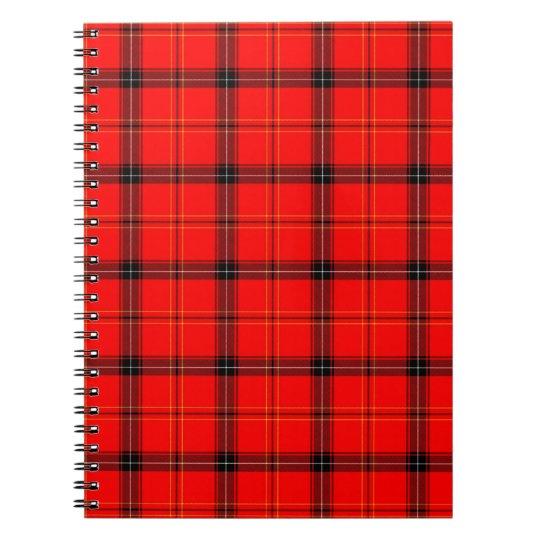 Tartan Design Spiral Notebook