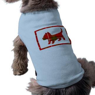 Tartan Doggie Design on Dog Sweater Sleeveless Dog Shirt