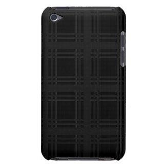 Tartan Ebony Charcoal iPod Touch Case