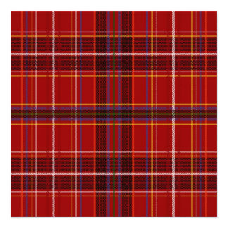 Tartan Fabric Texture 13 Cm X 13 Cm Square Invitation Card