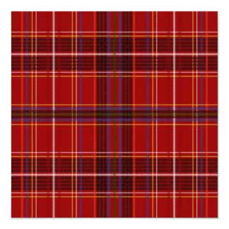 Tartan Fabric Texture 13 Cm X 13 Cm Square Invitation Card