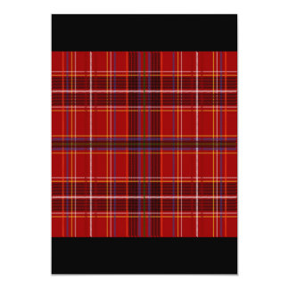 Tartan Fabric Texture 13 Cm X 18 Cm Invitation Card
