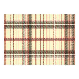 Tartan Fabric Texture 13 Cm X 18 Cm Invitation Card
