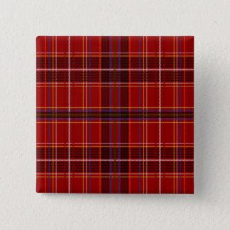 Tartan Fabric Texture 15 Cm Square Badge