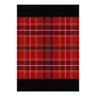 Tartan Fabric Texture Custom Invites
