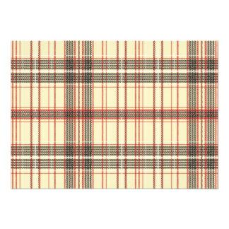 Tartan Fabric Texture Invite