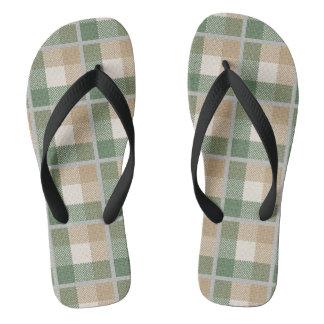 Tartan Flip Flops
