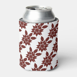 Tartan flower can cooler