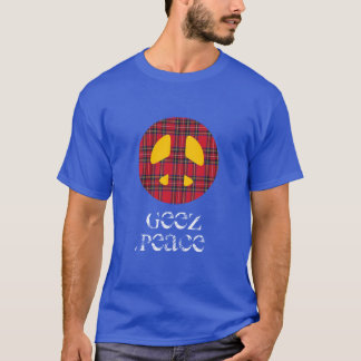Tartan Geez Peace Symbol T-Shirt