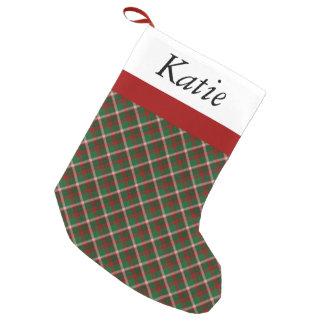 Tartan Green & Red Plaid Christmas Stocking