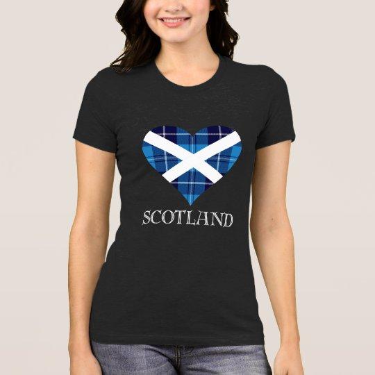 Tartan Heart - Heather Grey T-Shirt