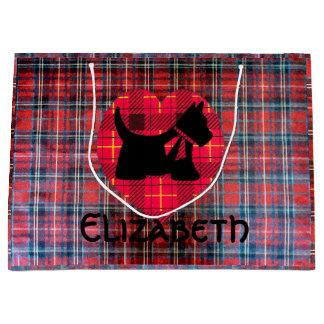 Tartan Heart Scotty Large Gift Bag