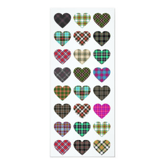 Tartan Heart Wedding Invite