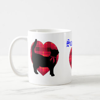Tartan Hearts & Lucky Black Cat Mug