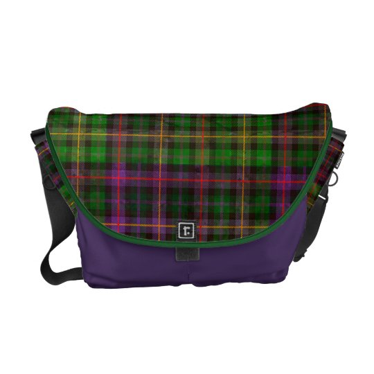 Tartan in Green and Purple Courier Bag