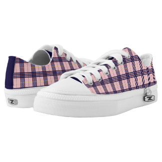 Tartan Lavender Printed Shoes