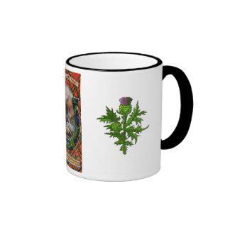 Tartan Mug, Auld Lang Syne Ringer Mug