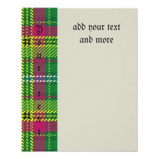 "Tartan,multicolor,trendy, green,red,yellow,white, 4.5"" x 5.6"" flyer"