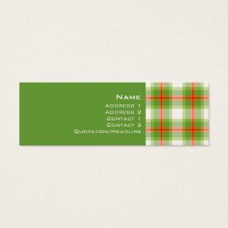 Tartan No. 0001 Mini Business Card