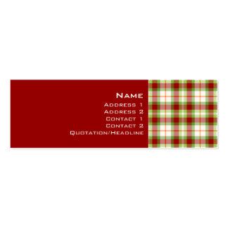 Tartan No. 0004 Business Card Templates