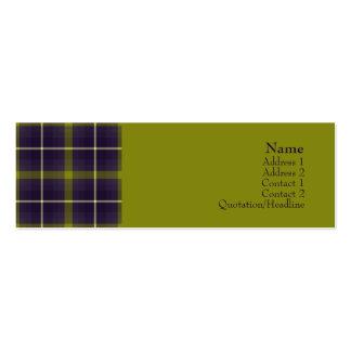 Tartan No. 0016 Business Card Template