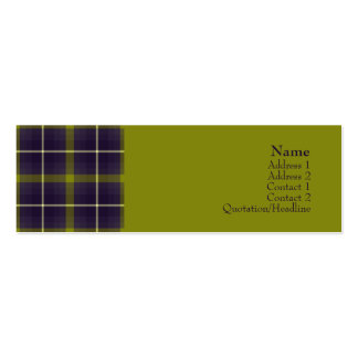 Tartan No. 0016 Pack Of Skinny Business Cards
