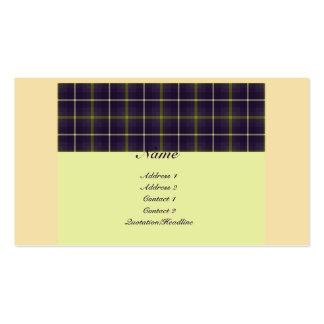 Tartan No. 0018 Business Card Templates