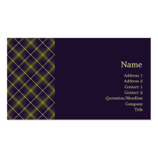Tartan No. 0019 Business Card Template