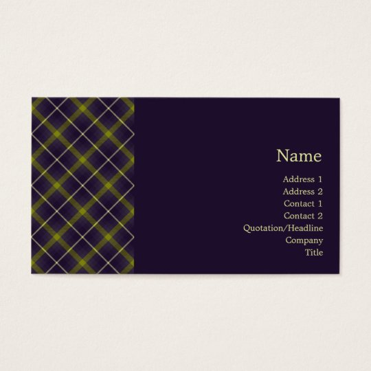 Tartan No. 0019 Business Card