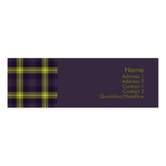 Tartan No. 0020 Business Card Templates