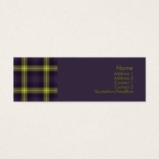 Tartan No. 0020 Mini Business Card