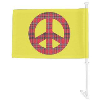 Tartan No Trident Scottish Independence Car Flag