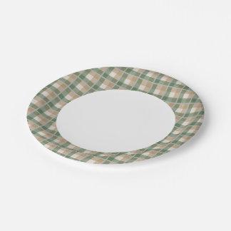 Tartan Paper Plate