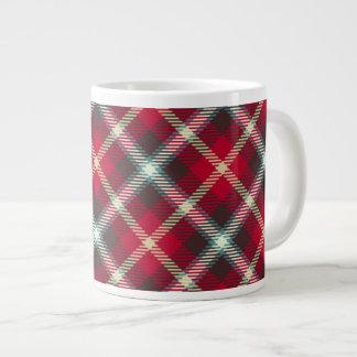 Tartan Pattern Christmas Plaid 20oz Coffee Jumbo Mug