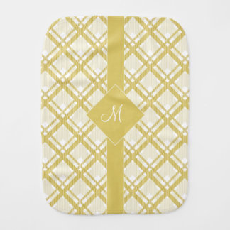 Tartan pattern of stripes and squares burp cloths