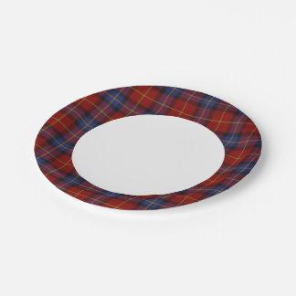 Tartan pattern paper plate