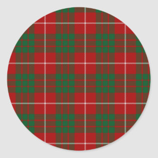 TARTAN PLAID DESIGN CLASSIC ROUND STICKER