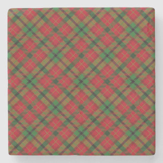Tartan Plaid Holiday Festive Christmas Stone Coaster