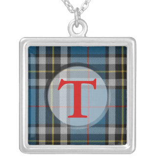Tartan Plaid Monogram Necklace