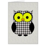 Tartan Plaid Owl V9 Birthday