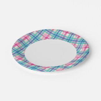Tartan, plaid pattern 7 inch paper plate