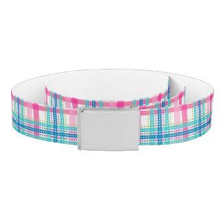 Tartan, plaid pattern belt